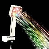 PowerLead シャワーヘッド、7色のLED手すりシャワーヘッドは、浴室の色を自動的に変更する