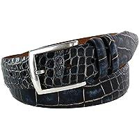 Lejon Men's Azurmendi Italian Calfskin Croc Print Belt