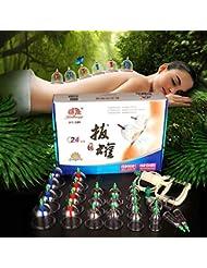 JQ カッピングセット 吸い玉 拔罐【 7種 24個セット】 がご家庭で手軽にできる
