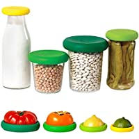 Kitchen Craft Silicone Food Huggers Set of Four Assorted フォー盛り合わせのキッチンクラフトシリコーン食品Huggersセット