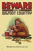 Bigfoot国–ないままで食品テント 16 x 24 Signed Art Print LANT-50469-709