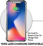 iPhone XS ケース iPhone X ケース クリア シリコン 透明 TPU ソフト Qi充電 耐衝撃 ストラップホール付き アイフォンX/Xs カバー Jenuos