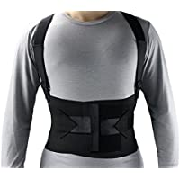 ObboMed-Mb-2845Nm Industrial Back, Lumbar Abdominal Support Wrap Belt Brace With 4 Metal Stays Splints, Extra Double Side Straps Adjustable For Heavy Lifting Loading Worker Porter(M: 37 ? 41 Inches)