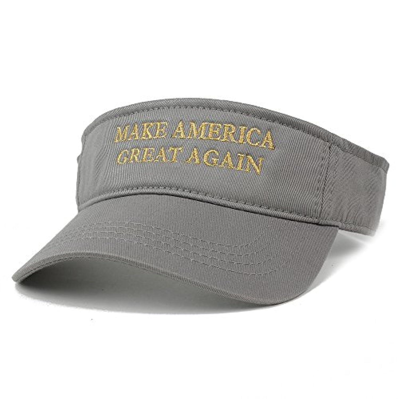 ドナルド?トランプバイザー、アメリカを再びGreat – メタリックゴールド刺繍バイザーキャップ
