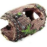 Studyset Aquarium Fish Tank Artificial Resin Barrel Caves Ornament Furnishing Landscaping Decoration