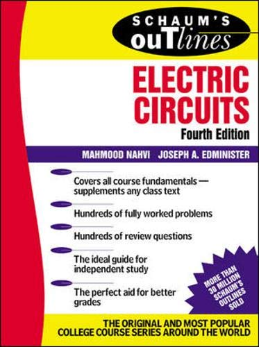 Download Schaum's Outline of Electric Circuts (Schaum's Outline Series) 0071393072