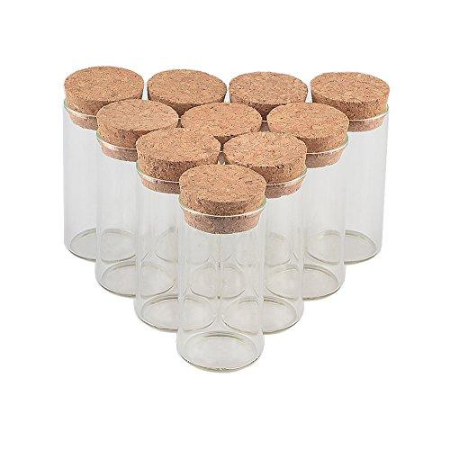 出品する 12個セット20ml軟木栓直口瓶 透明中性ガラス。 様々なアイテムを収納できます。 DIY祝祭日の贈り物 ベスト選択 無料配送 (12, 20ml)