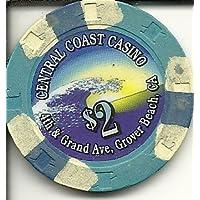 $ 2 Central CoastカジノGroverビーチカリフォルニアカジノチップObsolete