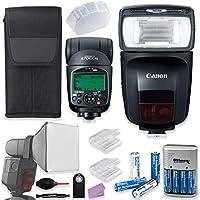 Canon Speedlite 470EX-AI バウンスフラッシュ + キヤノンポーチ + フラッシュディフューザー + アクセサリーセット 単三電池4本と充電器付き