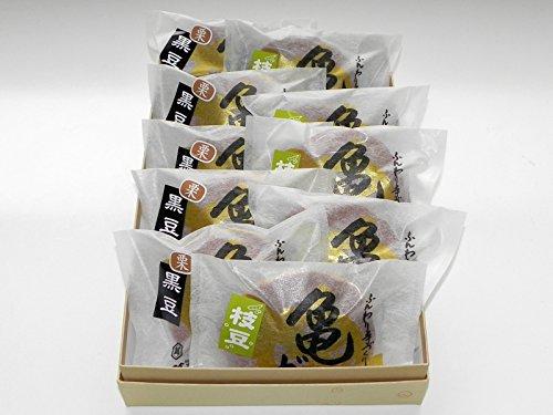 越後湯沢 創作和菓子 萬亀 丸ごと1個栗入り黒豆どら焼き5個 枝豆餡どら焼き5個 詰合せ