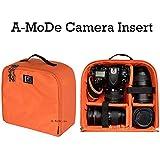 a-mode DSLRカメラ挿入容量ライト重量荷物のバックパック撥水保護挿入パッド入りDSLRカメラケースCanon Nikon in03