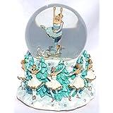 Nutcracker BalletテーマMusical Snow Globe Glitterdome 100 mm Tchaikovsky 's Dance of the Sugar Plum Fairies