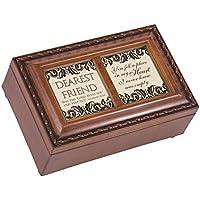 Cottage Garden Dearest Friend Woodgrain Petite Music Box / Jewellery Box Plays Friend In Jesus