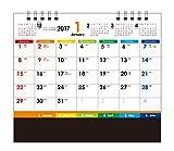 ムトウユニパック 2017年 卓上カレンダー 卓上 COLORFUL MU-104