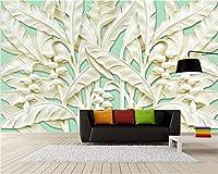 Wuyyii カスタム壁紙ホーム装飾壁画ステレオ芭蕉の木の救済壁画リビングルームのベッドルームテレビの背景3D Wallpaper-350X250Cm