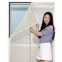 磁気スクリーン ドア フルフレーム velcro カーテン閉じるを自動的にメッシュ ペット友好的な手無料ブラック バグします。-B 110x220cm(43x87inch)