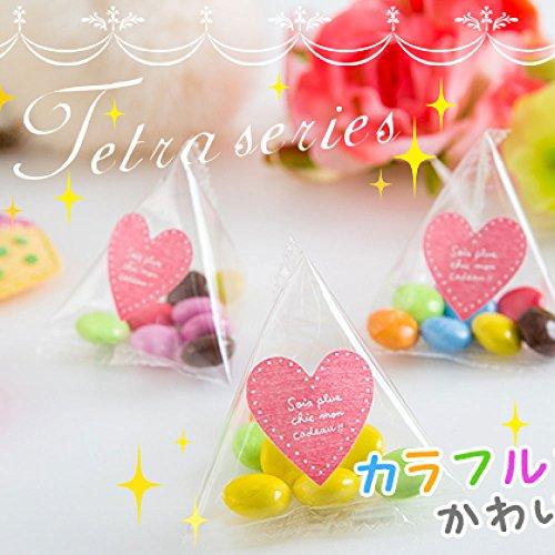 Sweet Factory Yammy プチギフト マーブルチョコ テトラパック 50個 (マーブルチョコハートシール)