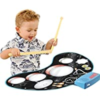 Click N Play Kids Electronic Touch Sensitive Play Mat Drum Set With Real Drum Sounds [並行輸入品]