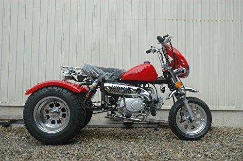 静音モデル 125ccトライク完成車 赤色クラッチなしタイプ デフ付 好燃費 ZH-SR125-3L