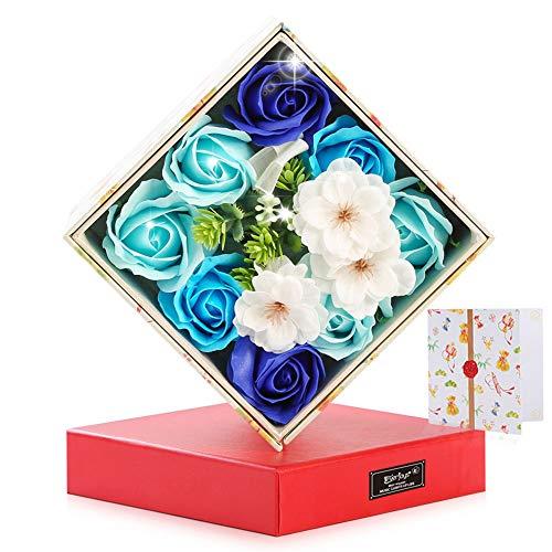 ソープフラワー 創意 回転 ギフトボックス 造花 フラワー 石鹸花 枯れない花 プレゼント 母の日 結婚祝い バレンタインデー プレゼント ギフト お見舞い