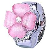 クロックス ガールズ (シャイニング ガールズ)shining girls 指輪時計 リングウォッチ 四つ葉のクローバー 子供用フリップ 時計 (ピンク)
