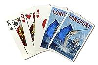 Longport、新しいジャージー–Sailfish深い海釣り( Playingカードデッキ–52カードPokerサイズwithジョーカー)