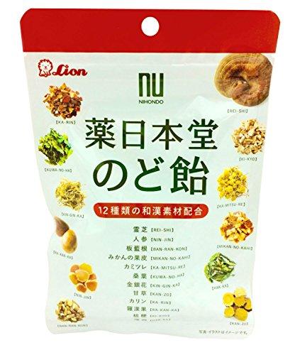 ライオン 薬日本堂のど飴 ハーブ味 70g 1袋