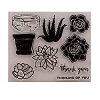 花のシリコーンクリアスタンプ密封シールDIYスクラップブックエンボスアルバムデコレーションクラフト