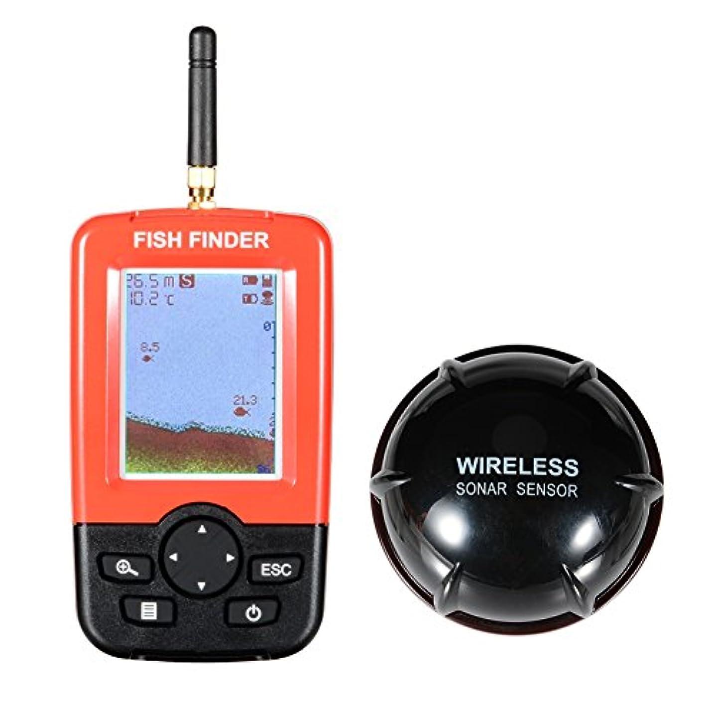 名前でドロップつかの間Raten ワイヤレスカラースクリーン充電ドットアレイ魚群探知機 作り付けの水温センサー、XF-03チューナー魚探知器125KHzのソナーセンサー0.6-36mの深さのロケータ魚群探知機2.4インチの液晶画面とアンテナ 海川河氷上釣り バス釣り わかさぎ釣り 魚群探知機 ワイヤレス 投げ式 魚探 集魚灯機能付きソーナー 釣り道具 陸釣り 船釣り 磯釣り 深場釣り 夜釣り