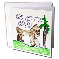 若いアーティストExpo–Gorilla–グリーティングカード Set of 6 Greeting Cards