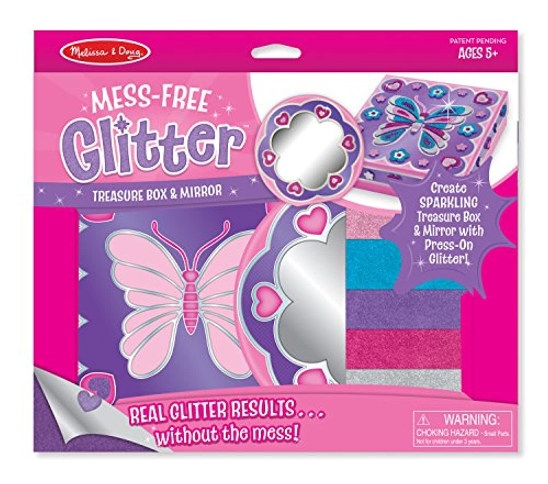 Melissa & Doug mess-free Glitter Treasureボックスとミラークラフトキット