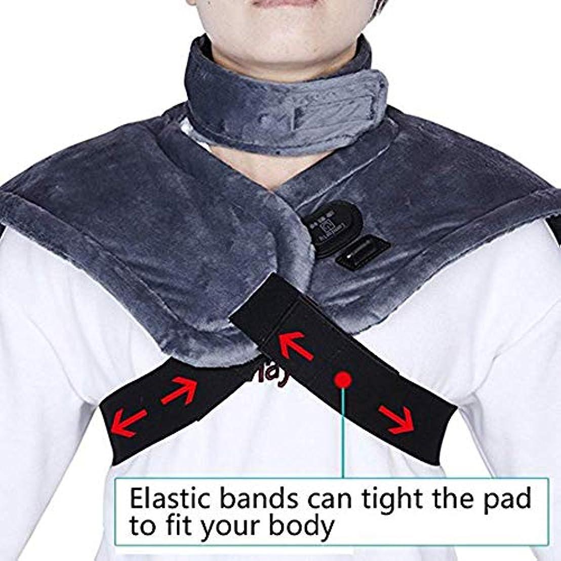 スピーカー欠点宝石Nfudishpuポータブルで便利なマッサージャー電気加熱肩保護ネックホットマッサージャー遠赤外線タイミング肩首楽器暖かい肩首宝首