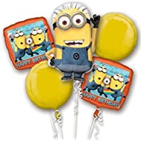 Despicable Me Minion誕生日バルーンブーケコンボMylar Foil Balloon