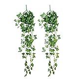 CCINEE 95cm ナツヅタ アイビー 観葉植物 人工観葉植物 壁掛け 壁飾り インテリア装飾 フェイク緑植物 2本セット