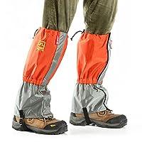 Beho 自動 AT8905 防水210T ナイロン超軽量トレッキングスキーフットスリーブ雪レギンスゲートル - オレンジ