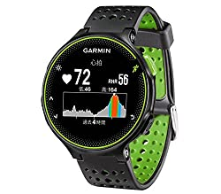 GARMIN(ガーミン) ランニングウォッチ 時計 GPS 心拍計 VO2Max ライフログ 50m防水 ForeAthlete 235J ブラック×グリーン 【日本正規品】 FA235J 37176K