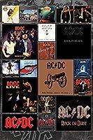 "AC / DC–音楽ポスター/印刷( Album Covers ) ( Size : 24"" x 36"" ) Tesa Poster Strips"