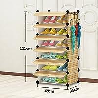 QFFL xiejia シンプルなアセンブリステッチ靴箱/ミニ省スペーススリッパシェルフ/バスルームの寮の部屋クリエイティブストレージボックス/靴ブーツフレーム (サイズ さいず : F f)