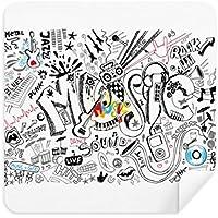 Graffiti Street Culture音楽サウンドボリュームメガネクリーニングクロス電話画面クリーナースエードファブリック2pcs