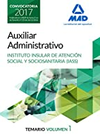 Auxiliar Administrativo, Instituto Insular de Atención Social y Sociosanitaria. Temario