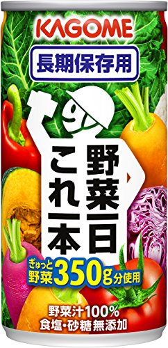 カゴメ 野菜一日これ一本 長期保存用 190g×30本