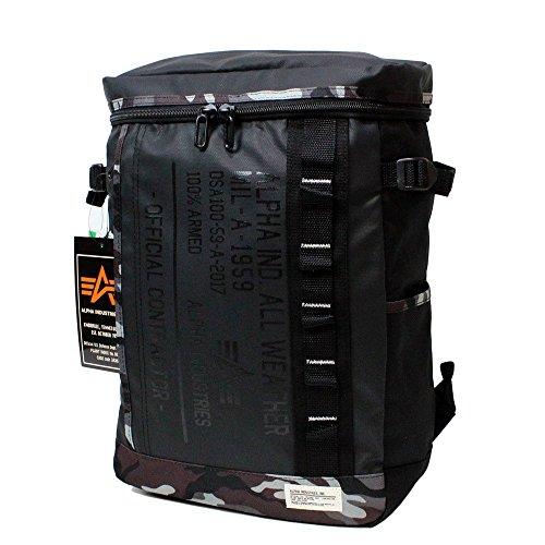 アルファ バッグ ALPHA INDUSTRIES (アルファ インダストリーズ) ユニ ボックス型リュック バックパック リュックサック デイバック 全3色 40056 (BLACK/CAMO)