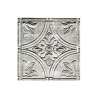 Fasade 天井用タイル 2×4フィート 伝統的 密閉型 天井パネル 素早く簡単に取り付け 12x12 Inch - Sample シルバー X52-21-GT2