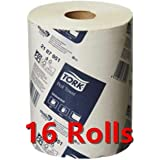 Tork Paper Hand Towels Towel Roll Bulk Industrial Kitchen White 90m 1Ply 8/16/32 (16)