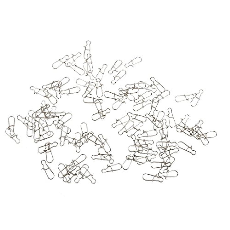 に賛成近似教授SunniMix 約100本 ステンレス鋼、銅 釣り ロック スナップフック ルアー コネクタ スイベル 固体 リング クリップ  20mm 全5サイズ選べる