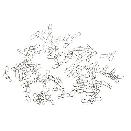 【ノーブランド 品】 釣り ロック スナップ フック ルアー コネクタ 固体 スイベル リング クリップ 全5サイズ選べる - 9mm