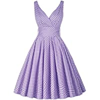 GRACE KARIN Vintage Sleeveless V-Neck Swing Party Dress CL010611