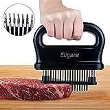Eligaraミート テンダライザー (肉 筋切り器) 48本 ステンレス スチール 針 刃 | ステーキ テンダライザー ABS 安全 プラスチック付き 軽量 & 丈夫 キッチン 調理 ツール