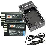 DSTE® アクセサリーキット Pentax D-LI109 互換 カメラ バッテリー 2個+充電器キット対応機種 K-R K-30 K-50 K-500 KR K30 K50 K500 K-..
