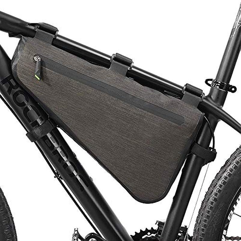 定期的サービス牛肉JYLilian バイク自転車バッグ、サイクリング用防雨大容量ロードフレームバッグトライアングルポーチ防水コーキング収納袋